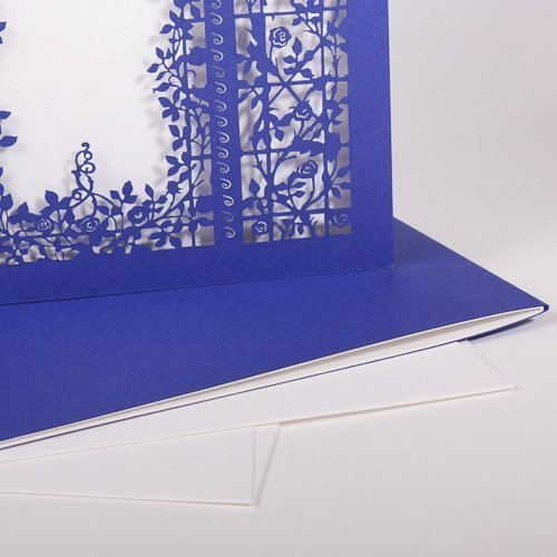 Karte Rosengarten royal blue / pristine white