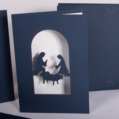weihnachtskarte krippe tausendsch n karten. Black Bedroom Furniture Sets. Home Design Ideas